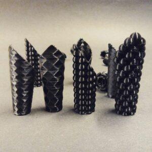 vzorky na 3D tiskráně makerslab